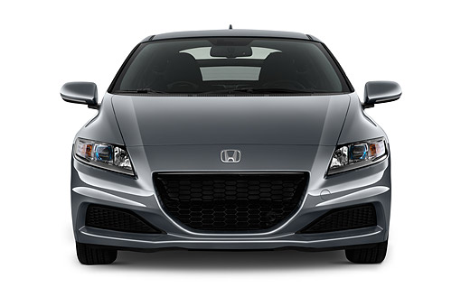 AUT 51 IZ0354 01 © Kimball Stock 2015 Honda CR-Z CVT 3-Door Hatchback Hybrid Front View In Studio