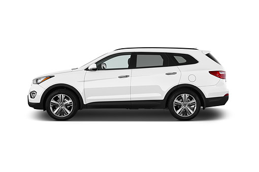 AUT 51 IZ0370 01 © Kimball Stock 2015 Hyundai Santa Fe GLS 5-Door SUV Profile View In Studio
