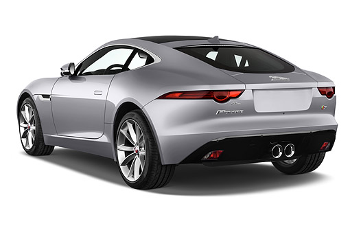 AUT 51 IZ0387 01 © Kimball Stock 2015 Jaguar F-Type S 2-Door Coupe 3/4 Rear View In Studio