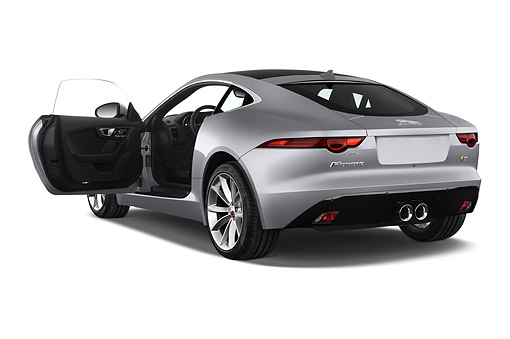 AUT 51 IZ0388 01 © Kimball Stock 2015 Jaguar F-Type S 2-Door Coupe 3/4 Rear View In Studio