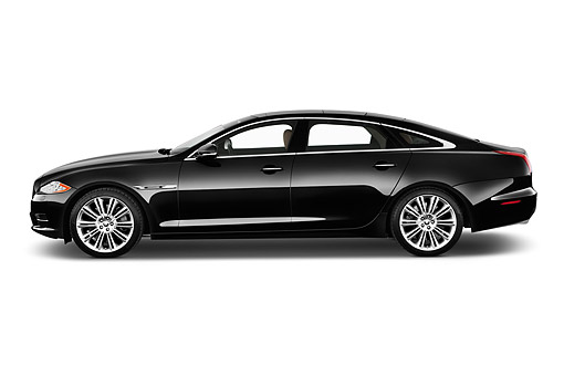 AUT 51 IZ0398 01 © Kimball Stock 2015 Jaguar XJ Series XJL Supercharged 4-Door Sedan Profile View In Studio