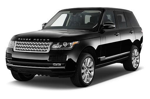 AUT 51 IZ0407 01 © Kimball Stock 2015 Land Rover Range Rover HSE 5-Door SUV 3/4 Front View In Studio