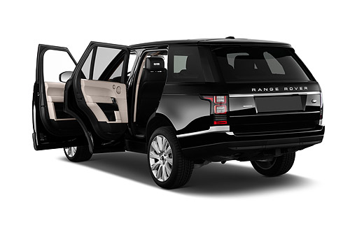 AUT 51 IZ0409 01 © Kimball Stock 2015 Land Rover Range Rover HSE 5-Door SUV 3/4 Rear View In Studio