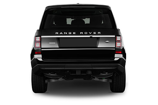 AUT 51 IZ0411 01 © Kimball Stock 2015 Land Rover Range Rover HSE 5-Door SUV Rear View In Studio
