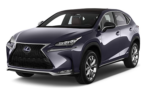 AUT 51 IZ0435 01 © Kimball Stock 2015 Lexus NX 300h 4x2 5-Door SUV 3/4 Front View In Studio