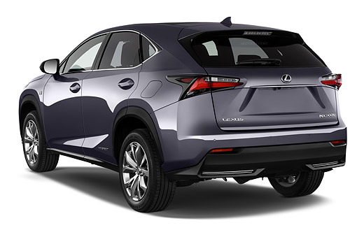 AUT 51 IZ0436 01 © Kimball Stock 2015 Lexus NX 300h 4x2 5-Door SUV 3/4 Rear View In Studio