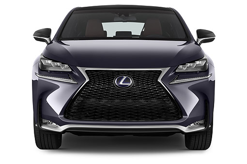 AUT 51 IZ0438 01 © Kimball Stock 2015 Lexus NX 300h 4x2 5-Door SUV Front View In Studio