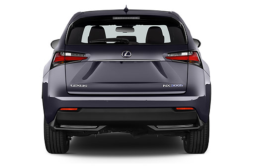 AUT 51 IZ0439 01 © Kimball Stock 2015 Lexus NX 300h 4x2 5-Door SUV Rear View In Studio