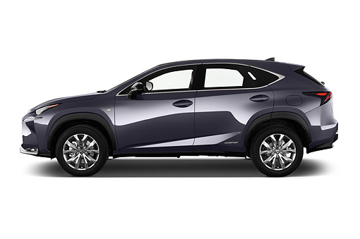 AUT 51 IZ0440 01 © Kimball Stock 2015 Lexus NX 300h 4x2 5-Door SUV Profile View In Studio