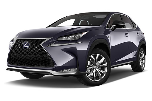 AUT 51 IZ0441 01 © Kimball Stock 2015 Lexus NX 300h 4x2 5-Door SUV 3/4 Front View In Studio