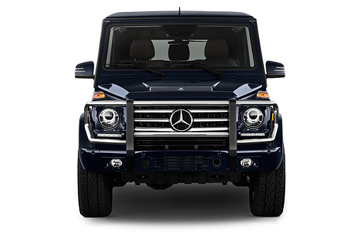 AUT 51 IZ0473 01 © Kimball Stock 2015 Mercedes Benz G-Class G550 5-Door SUV Front View In Studio