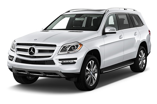 AUT 51 IZ0477 01 © Kimball Stock 2015 Mercedes Benz GL-Class GL450 5-Door SUV 3/4 Front View In Studio