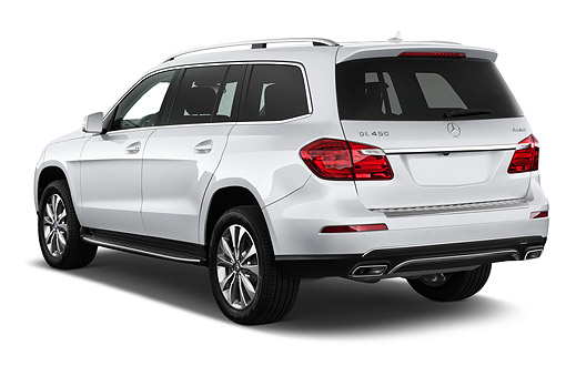 AUT 51 IZ0478 01 © Kimball Stock 2015 Mercedes Benz GL-Class GL450 5-Door SUV 3/4 Rear View In Studio