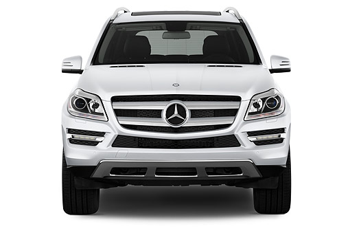 AUT 51 IZ0480 01 © Kimball Stock 2015 Mercedes Benz GL-Class GL450 5-Door SUV Front View In Studio