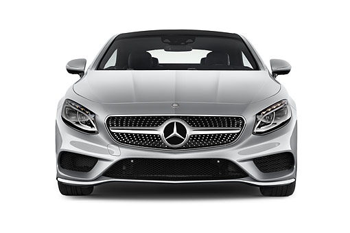 AUT 51 IZ0494 01 © Kimball Stock 2015 Mercedes Benz S-Class 2-Door Front View In Studio