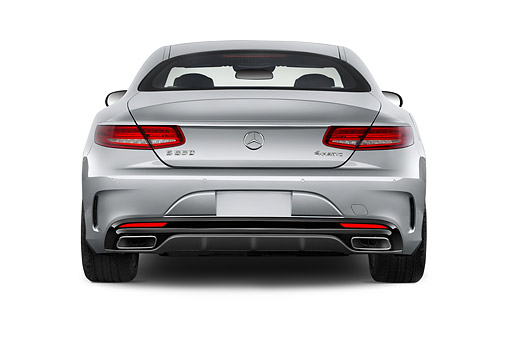 AUT 51 IZ0495 01 © Kimball Stock 2015 Mercedes Benz S-Class 2-Door Rear View In Studio