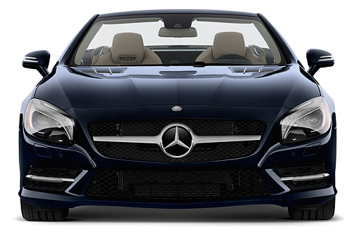 AUT 51 IZ0501 01 © Kimball Stock 2015 Mercedes Benz SL-Class SL550 2-Door Roadster Front View In Studio
