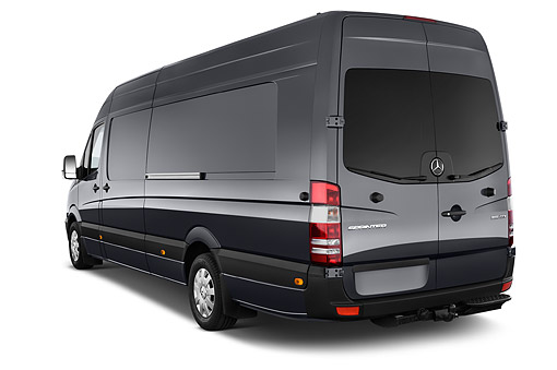 AUT 51 IZ0506 01 © Kimball Stock 2015 Mercedes Benz Sprinter Cargo Van 2500 170 High Roof 5-Door 3/4 Rear View In Studio