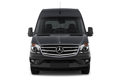 AUT 51 IZ0508 01 © Kimball Stock 2015 Mercedes Benz Sprinter Cargo Van 2500 170 High Roof 5-Door Front View In Studio