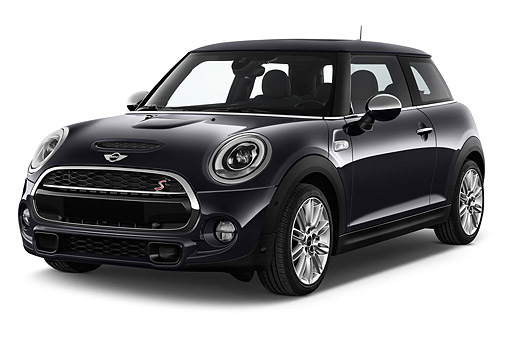AUT 51 IZ0526 01 © Kimball Stock 2015 Mini Cooper Hardtop S 3-Door Hatchback 3/4 Front View In Studio