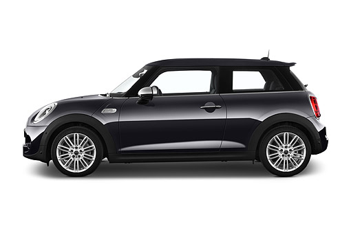 AUT 51 IZ0531 01 © Kimball Stock 2015 Mini Cooper Hardtop S 3-Door Hatchback Profile View In Studio