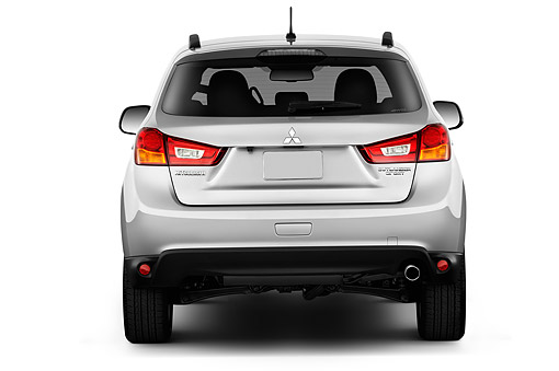 AUT 51 IZ0585 01 © Kimball Stock 2015 Mitsubishi Outlander Sport SE Auto 5-Door SUV Rear View In Studio
