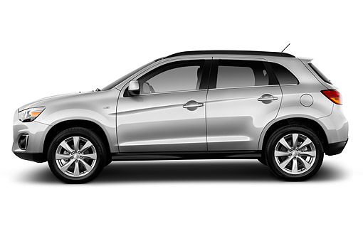 AUT 51 IZ0586 01 © Kimball Stock 2015 Mitsubishi Outlander Sport SE Auto 5-Door SUV Profile View In Studio
