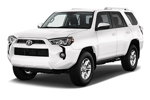 AUT 51 IZ0654 01 © Kimball Stock 2015 Toyota 4-Runner SR5 4x4 V6 5-Door SUV 3/4 Front View In Studio