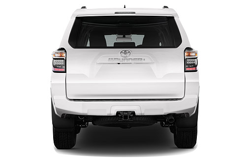 AUT 51 IZ0658 01 © Kimball Stock 2015 Toyota 4-Runner SR5 4x4 V6 5-Door SUV Rear View In Studio