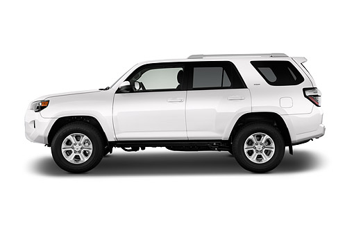 AUT 51 IZ0659 01 © Kimball Stock 2015 Toyota 4-Runner SR5 4x4 V6 5-Door SUV Profile View In Studio