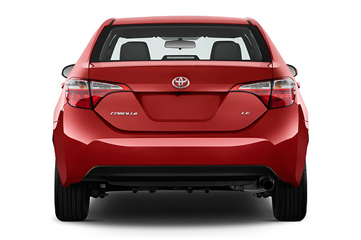 AUT 51 IZ0687 01 © Kimball Stock 2015 Toyota Corolla LE AT 4-Door Sedan Rear View In Studio