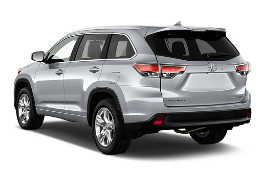 AUT 51 IZ0690 01 © Kimball Stock 2015 Toyota Highlander Limited 5-Door SUV 3/4 Rear View In Studio