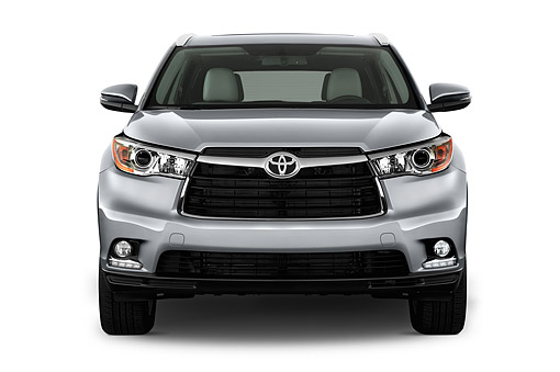 AUT 51 IZ0692 01 © Kimball Stock 2015 Toyota Highlander Limited 5-Door SUV Front View In Studio