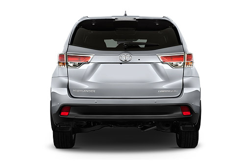 AUT 51 IZ0693 01 © Kimball Stock 2015 Toyota Highlander Limited 5-Door SUV Rear View In Studio
