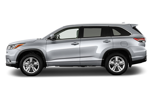 AUT 51 IZ0694 01 © Kimball Stock 2015 Toyota Highlander Limited 5-Door SUV Profile View In Studio
