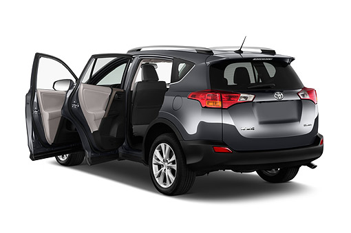 AUT 51 IZ0719 01 © Kimball Stock 2015 Toyota Rav4 Limited 5-Door SUV 3/4 Rear View In Studio