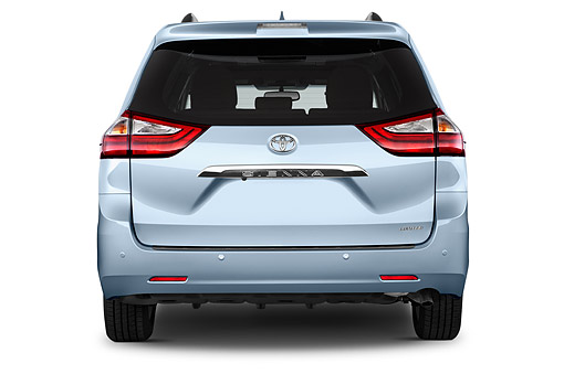 AUT 51 IZ0734 01 © Kimball Stock 2015 Toyota Sienna Limited V6 8 Passenger 5-Door Mini Van Rear View In Studio