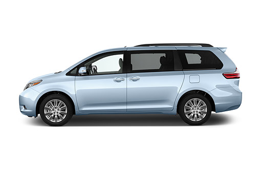 AUT 51 IZ0735 01 © Kimball Stock 2015 Toyota Sienna Limited V6 8 Passenger 5-Door Mini Van Profile View In Studio
