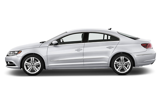 AUT 51 IZ0763 01 © Kimball Stock 2015 Volkswagen CC Tiptronic Sport Plus 4-Door Sedan Profile View In Studio
