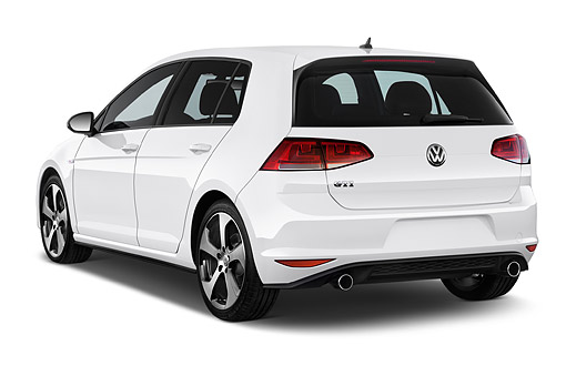 AUT 51 IZ0773 01 © Kimball Stock 2015 Volkswagen GTI DSG SE PSEV 5-Door Hatchback 3/4 Rear View In Studio
