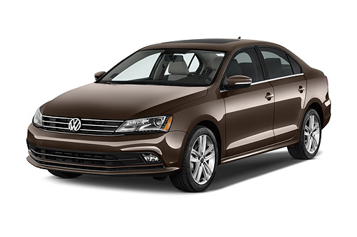 AUT 51 IZ0779 01 © Kimball Stock 2015 Volkswagen Jetta 2.5l Sel Auto 4-Door Sedan 3/4  Front View In Studio
