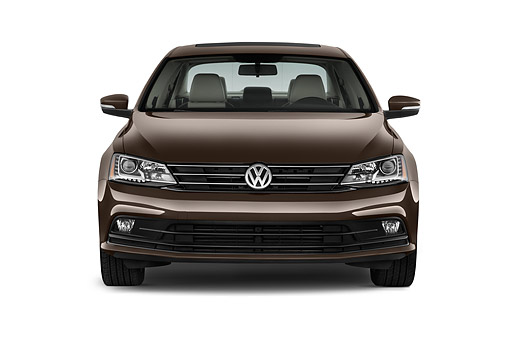 AUT 51 IZ0782 01 © Kimball Stock 2015 Volkswagen Jetta 2.5l Sel Auto 4-Door Sedan Front View In Studio