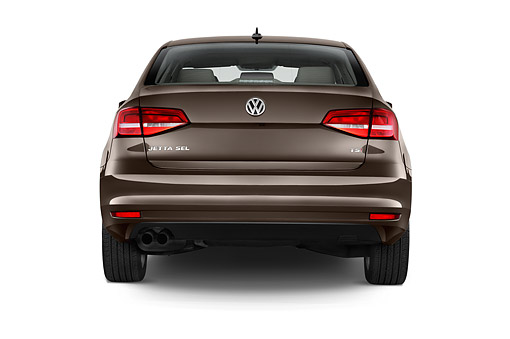 AUT 51 IZ0783 01 © Kimball Stock 2015 Volkswagen Jetta 2.5l Sel Auto 4-Door Sedan Rear View In Studio