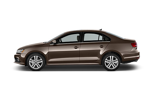 AUT 51 IZ0784 01 © Kimball Stock 2015 Volkswagen Jetta 2.5l Sel Auto 4-Door Sedan Profile View In Studio