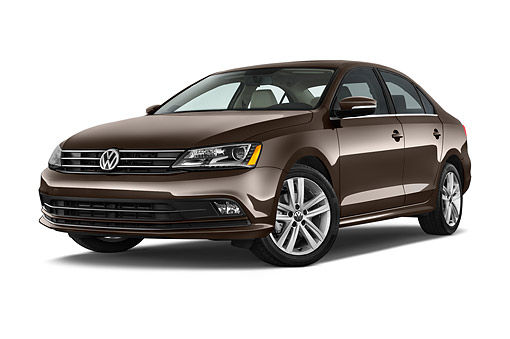 AUT 51 IZ0785 01 © Kimball Stock 2015 Volkswagen Jetta 2.5l Sel Auto 4-Door Sedan Low 3/4 Front View In Studio