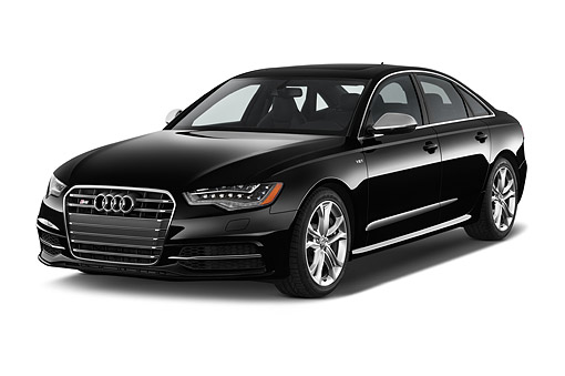 AUT 51 IZ2432 01 © Kimball Stock 2015 Audi S6 Sedan 4-Door 3/4 Front View In Studio