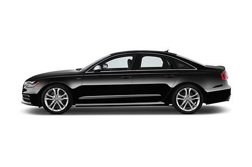 AUT 51 IZ2437 01 © Kimball Stock 2015 Audi S6 Sedan 4-Door Profile View In Studio