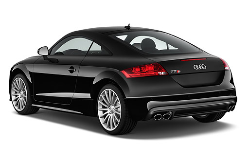 AUT 51 IZ2440 01 © Kimball Stock 2015 Audi TTS 2.5t Quattro 2-Door Coupe 3/4 Rear View In Studio