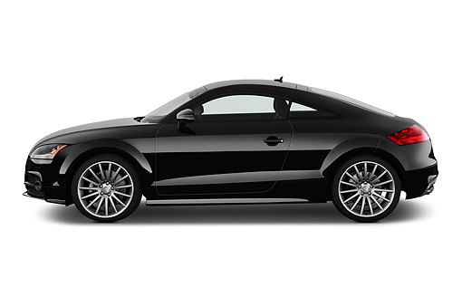 AUT 51 IZ2444 01 © Kimball Stock 2015 Audi TTS 2.5t Quattro 2-Door Coupe Profile View In Studio