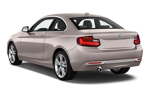 AUT 51 IZ2447 01 © Kimball Stock 2015 BMW 2 Series 228i Coupe 2-Door 3/4 Rear View In Studio